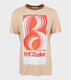 Acne Studios Esmeta 70s Printed T-shirt Peach Orange - dr. Adams
