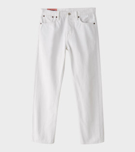 Straight Fit Jeans Ivory White