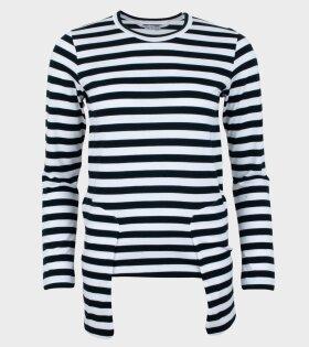 Striped LS T-shirt White/Black