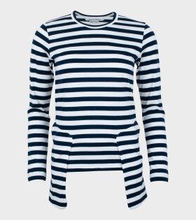 Striped LS T-shirt White/Navy
