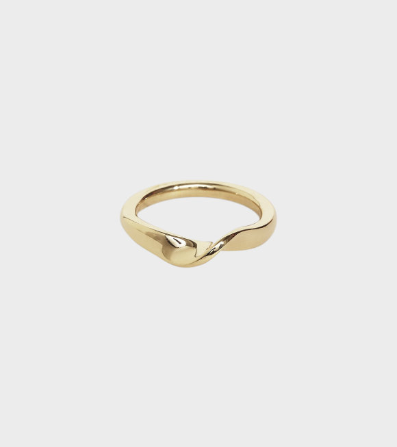 Trine Tuxen - Wave Ring lll. Gold