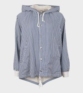 Ladies Jacket Blue/White