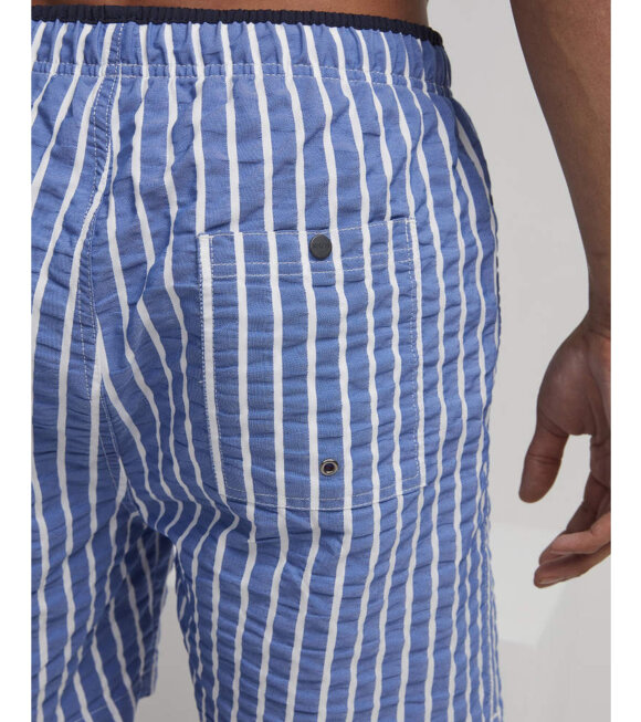 NN07 - Jules Stripe Shorts Blue/White