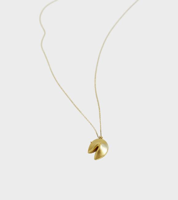 Trine Tuxen - Fortune Cookie Necklace Gold