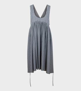 Cooling Dress Black Stripe Pleats