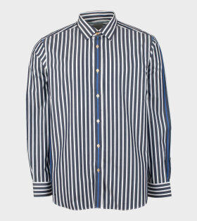 Mens Shirt Tailored Striped Grey