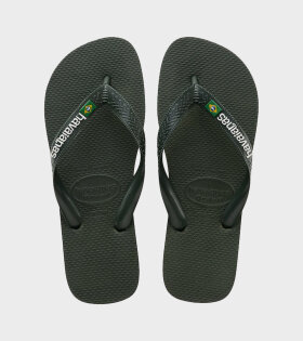 Havaianas Brazil Logo Green Olive - dr. Adams