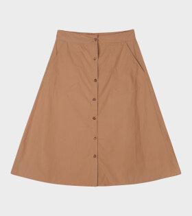 A-shape Skirt Tabacco