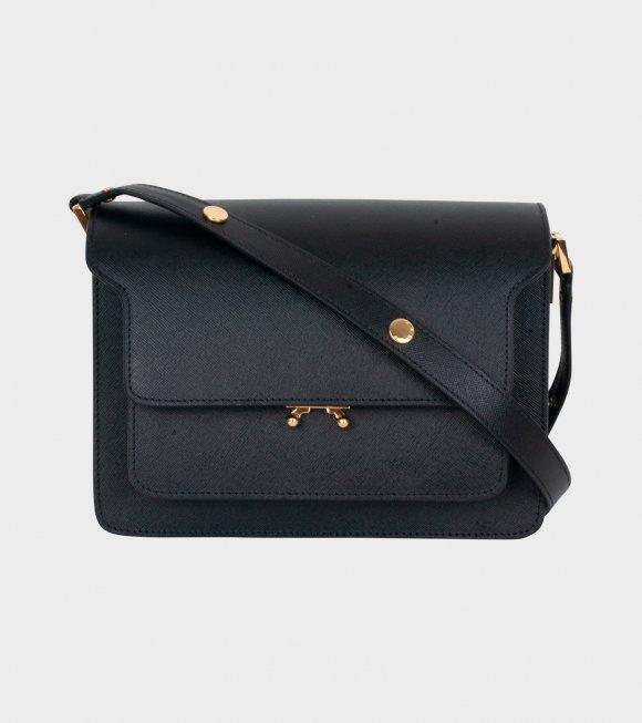 Marni - Medium Trunk Saffiano Bag Black