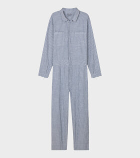 Jumpsuit Striped Indigo