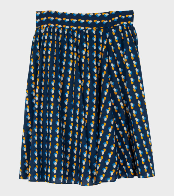 A.P.C - Jupe Gaia Skirt Navy Multi