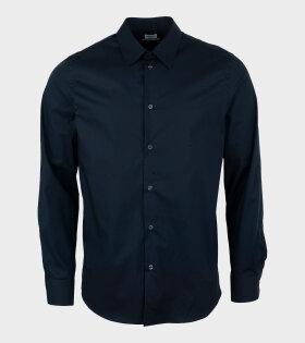James Stretch Shirt Navy