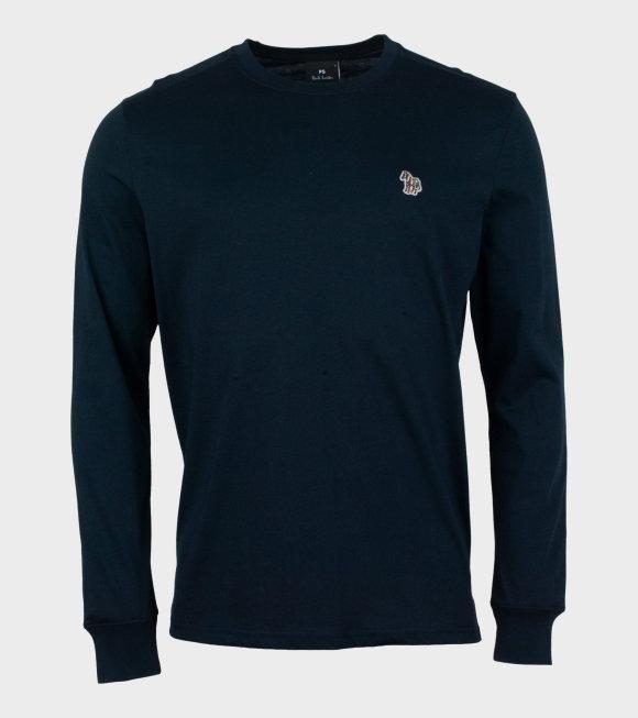 Paul Smith - Mens Reg Fit LS T-shirt Zebra Navy