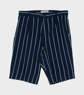 Henrik Vibskov - Participant Shorts Navy/Light Blue Stripes