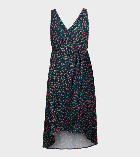 Henrik Vibskov - Windy Jersey Dress Dark Navy Multi
