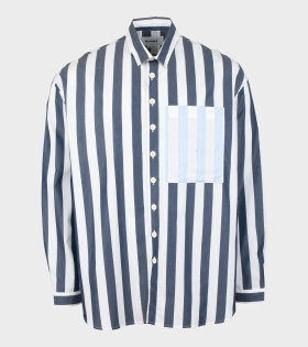 Sunnei - Woven Stripe Overshirt White/Blue