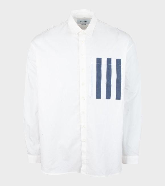 Sunnei - Woven Classic Overshirt White