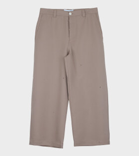 Woven Worker Pants Dark Beige