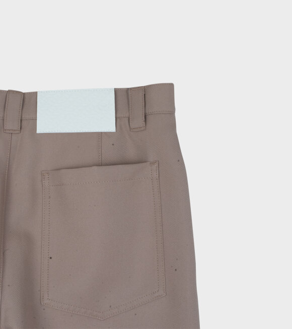 Sunnei - Woven Worker Pants Dark Beige