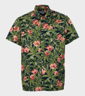 A.P.C Chemisette Midway Green Flower Mix - dr. Adams