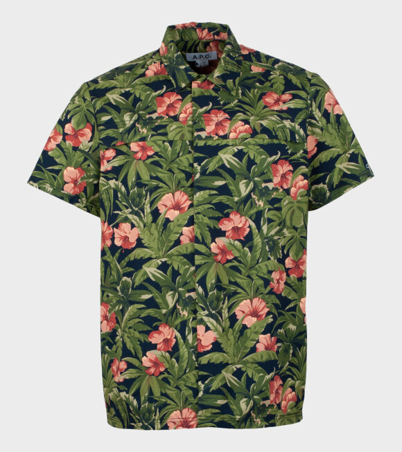 A.P.C - Chemisette Midway Green Flower Mix