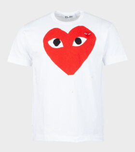 Comme des Garcons PLAY - U Red Big Heart T-shirt White