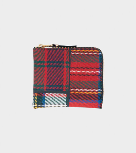 Comme des Garcons Wallet - Classic Checkered Wallet Red
