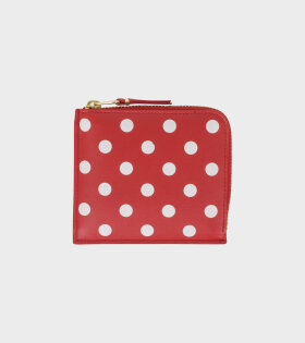 Classic Dots Wallet Red/White