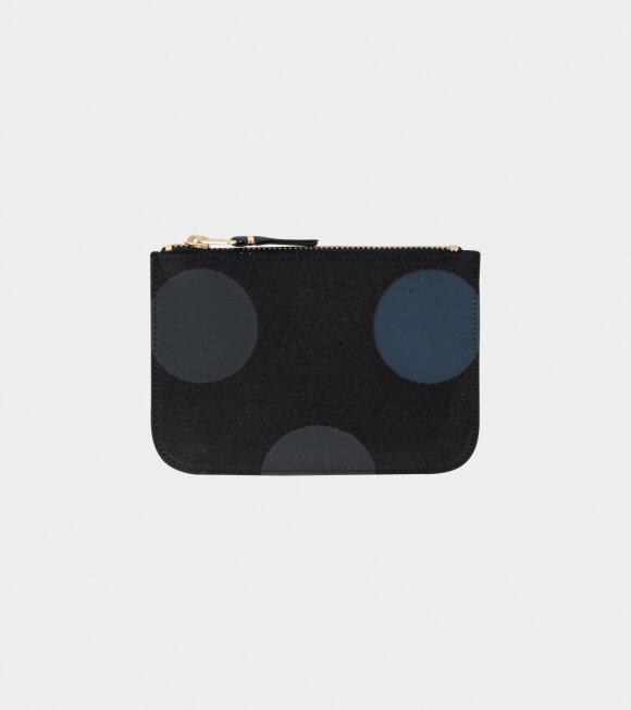 Comme des Garcons Wallet - Small Doc Wallet Black/Grey Dots