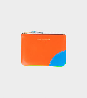 Small Doc Wallet Green/Orange