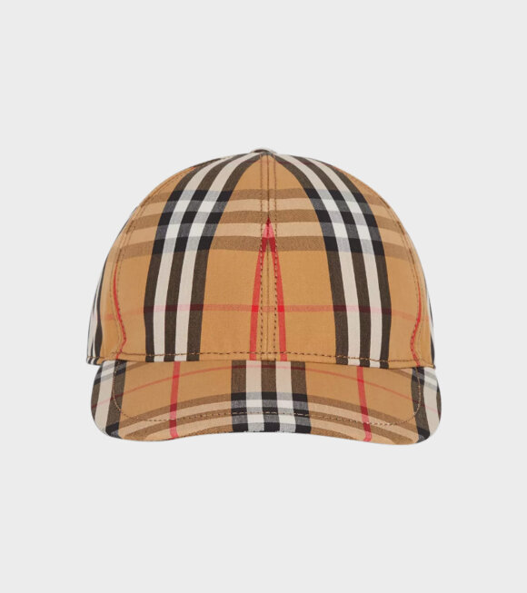 Burberry - Vintage Check Baseball Cap Antique Yellow