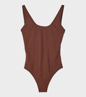Classic Swimsuit Burnt Rose