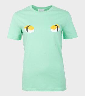 Helena Fananda - Moriko T-shirt Omelet Sushi Green