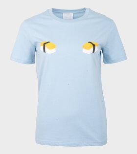 Helena Fananda - Moriko T-shirt Omelet Sushi Blue