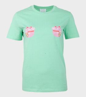Helena Fananda - Moriko T-shirt Lucky Cat Green