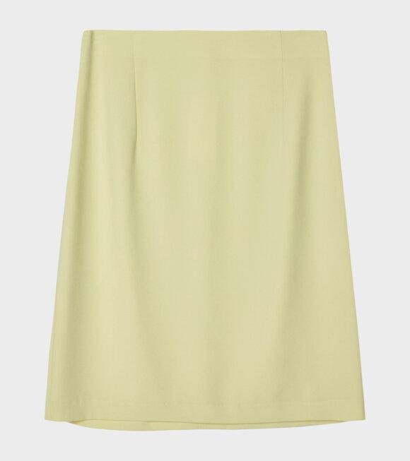 High Waist Crepe Skirt Yellow