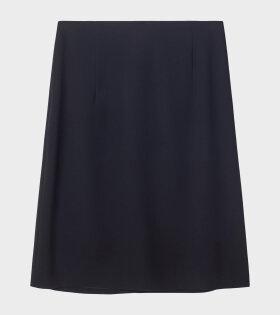 High Waist Crepe Skirt Black