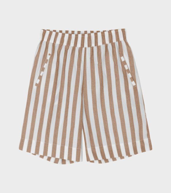 Aiayu - Circle Wide Shorts Mix Tabacco