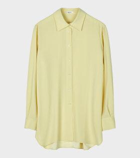 Long Crepe Shirt Yellow