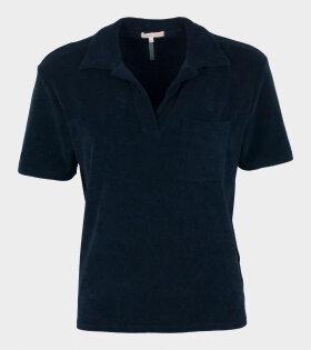 Filippa K - Terry Jersey Poloshirt Navy