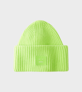 Pansy Beanie Lime Green