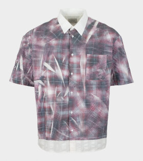 Tonsure Oversize SS Shirt Crunched Check Print - dr. Adams