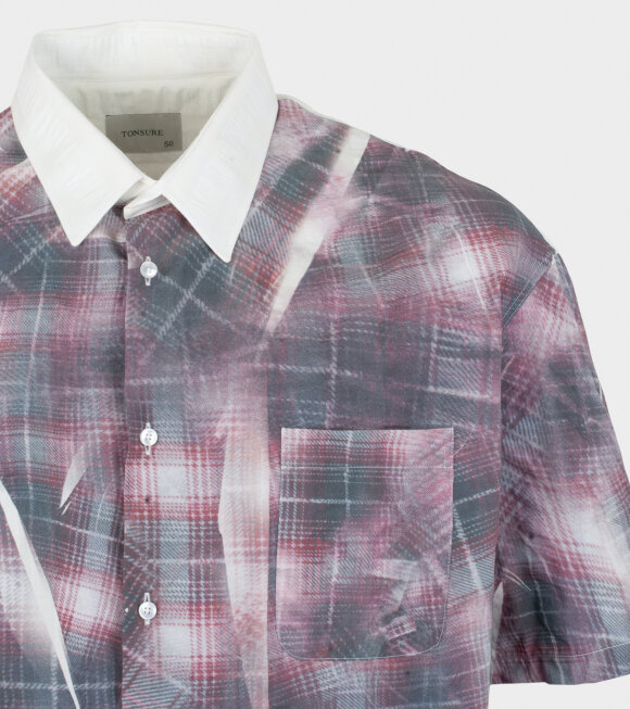 Tonsure - Oversize SS Shirt Crunched Check Print