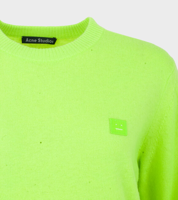Acne Studios - Nalon Face Sweater Lime Green