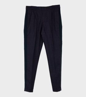 Mens Drawcord Trouser Navy Multi