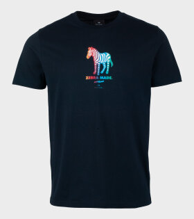 Zebra Made T-shirt Navy