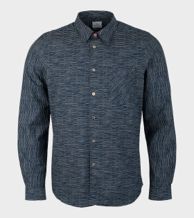 Paul Smith - Mens Shirt Tailored Print Navy