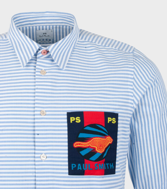 Paul Smith - Mens Shirt Tailored Striped Light Blue