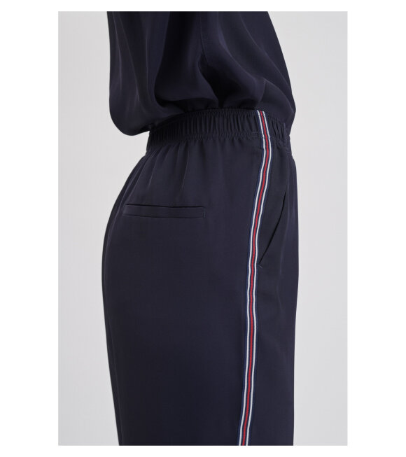 Filippa K - Stripe Twill Trouser Navy