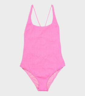 Textured Swimsuit Moonlight Mauve